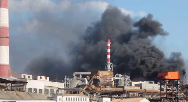 В Карабашмеди горел сернокислотный цех. РМК: «Ущерб от пожара пока не оценен». ВИДЕО