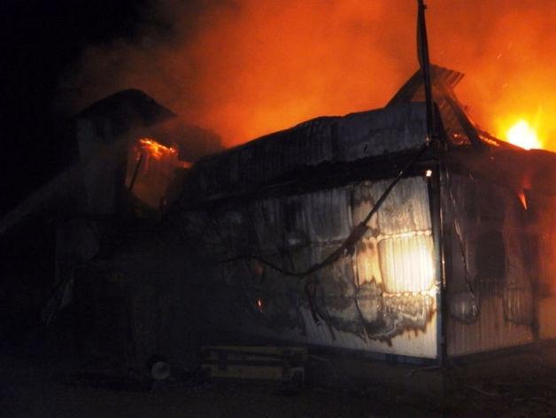 На территории Михеевского ГОКа группы РМК произошел крупный пожар