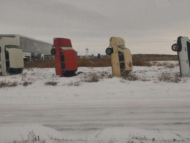 На Южном Урале появился секретный забор из машин