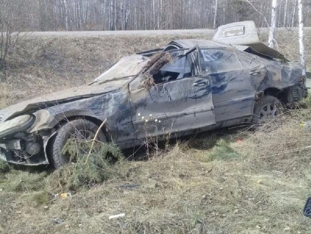 Под Чебаркулем перевернулся и погиб водитель иномарки