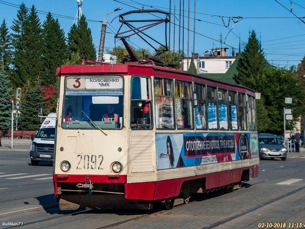 «Неуважение к пассажирам»: в Челябинске предложили демонтировать плитку с трамвайных путей