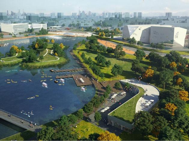 ММК утвердил проект по созданию парка с озером, 50-метровым бассейном и фитнес-центром