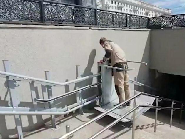 В центре Челябинска запустили подъемники, предназначенные не для всех