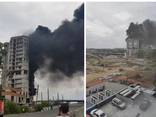 В центре Челябинска загорелся недострой к ШОС и БРИКС
