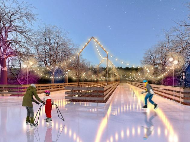 По дорожкам в парке Терешковой зимой можно будет кататься на коньках