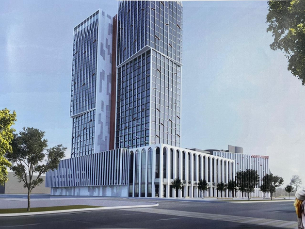 В Челябинске у Алого поля собираются строить 100-метровый небоскреб