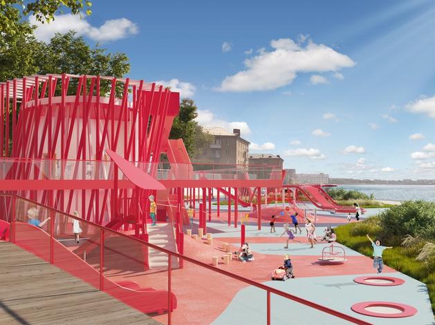 ЧТПЗ планирует построить новую детскую площадку и досуговый центр на набережной Смолино