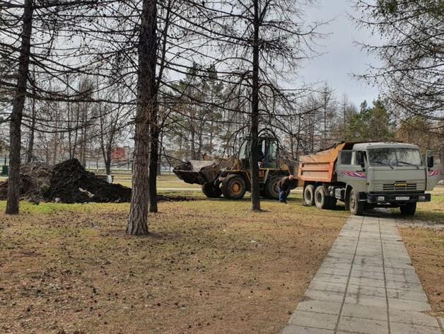 В Ленинском районе Челябинска приступили к строительству сквера «Сигнал»