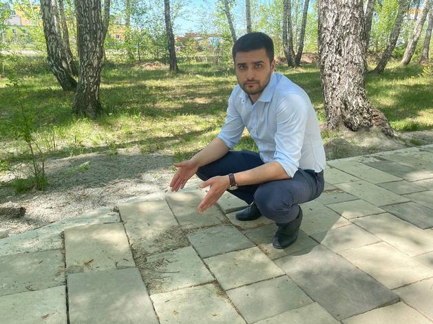 «Получилось как всегда»: Дмитрий Ларин просит переделать сквер на северо-западе Челябинска
