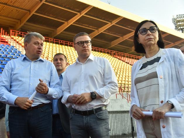 Алексей Текслер оценил новый сквер и стадион в Металлургическом районе Челябинска