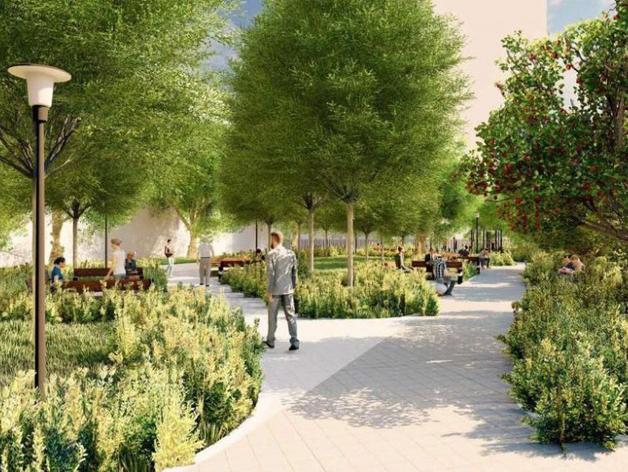 В центре Челябинска к концу сентября появится новый сквер