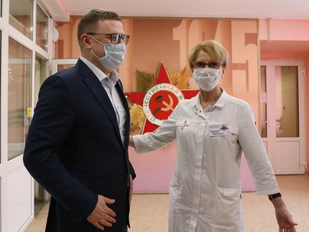 Алексей Текслер с коллегой по партсписку ЕР, Татьяной Василенко
